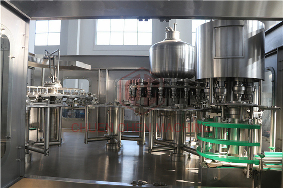 Cina Soda Automatic Rinsing Filling And Capping Machine Botol 330ml-1500ml pabrik